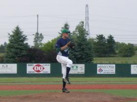 Sliders starting pitcher Kyle Kearcher threw six innings only allowing three runs in the Sliders loss Friday night.