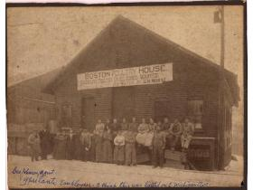The Boston Poultry House stood at the northwest part of the present-day Water Street property in 1903.