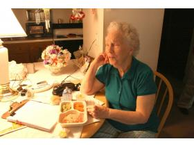 Erma Lathum, resident of Clark East Tower, gets her meals delivered through Ypsilanti Meals on Wheels several times a week.