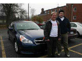 Subaru employees Pete vanBuren and Dan Taylor met at the Ypsilanti Meals on Wheels office today to help deliver food.