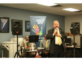 Lt. Gov. John Cherry spoke to the importance of participation in the 2010 Census Tuesday evening at Ypsilanti's Michigan Works! office.