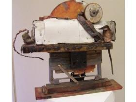 Crash and Burn by Joan Painter-Jones is one of approximately 80 pieces on display in the