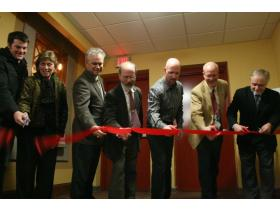 Feb. 12 - The Riverside Arts Center celebrated the completion of more than $600,000 in renovations and construction Thursday.