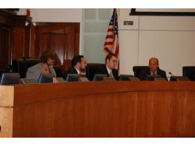 County Commissioners voted down a proposed two-year contract with Allied Building Service Company of Detroit.