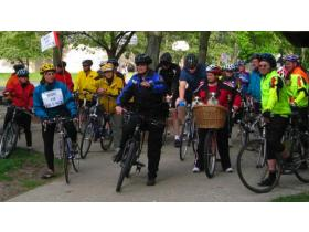 Riders in Ann Arbor, above, ready for last year's Ride of Silence,  sponsored by the Ann Arbor Bicycle Touring Society. At 7 p.m. May 20, Bike Ypsi is sponsoring an Ypsilanti ride for the second year.