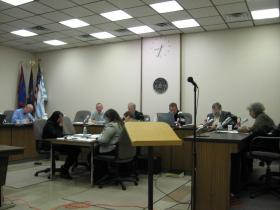 City Council discusses house keeping issues at its organizational meeting last night.