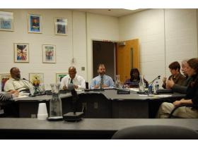 Several of the board members expressed dismay at Wednesday's meeting over the fact funding for sports and art could be seriously reduced or eliminated.