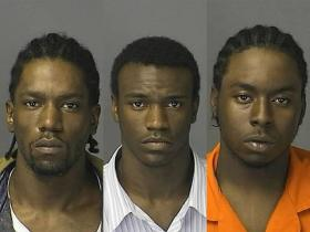 Left to right: 27-year-old Ozell Johnson, 19-year-old Daniel Haywood and 17-year-old Emmanuel Hopkins were issued a $2.5 million bond and charged with open murder and felony firearms stemming from Thursday's shooting.