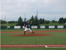 Kyle Kearcher pitched six innings giving up no earned runs in the Sliders' 4-3 victory Tuesday.