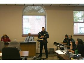 Interim chief of police Paul DeRidder explained the day-to-day operations of the Ypsilanti Police Department at Thursday evening's meeting.